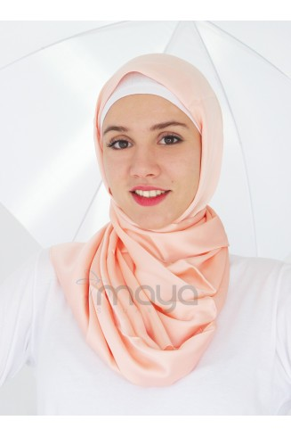 Salmon silky touch scarf