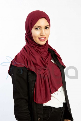 Foulard viscose Bordeaux