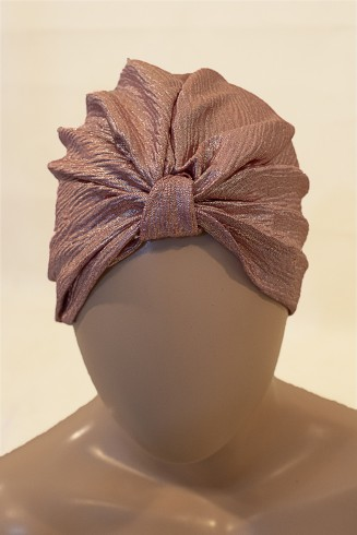 evening soft pink turban