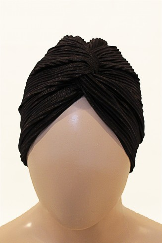 evening black turban