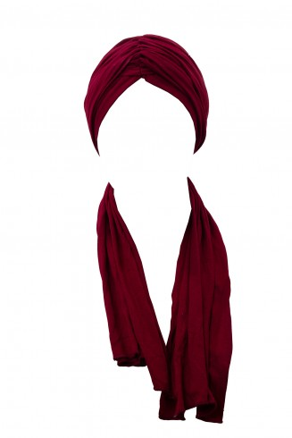 Foulard Turban Bordeau