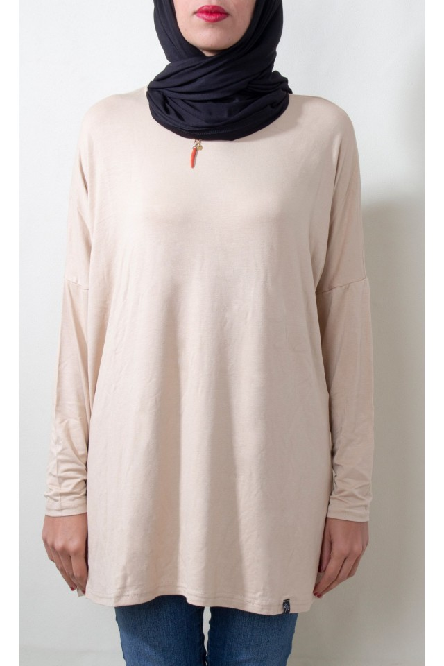 Pull ample Court Beige